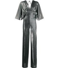 federica tosi metallic jumpsuit - silver