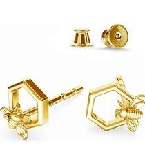 kolczyki honey bee srebro,złoto,różowe złoto