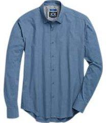 joe joseph abboud blue dot sport shirt