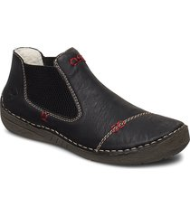 52590-00 shoes boots ankle boots ankle boot - flat svart rieker