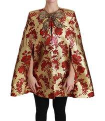 jas bloemen crystal bow cape jacket