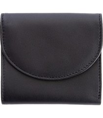 royce leather women's rfid blocking leather compact wallet - black