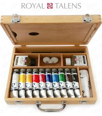 royal talens - van gogh oil colour art set in premium wooden case