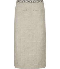 blumarine crystal embellished waist skirt