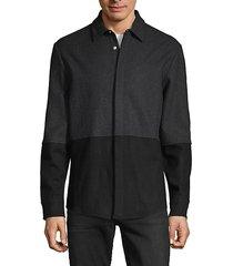 colorblock wool-blend jacket