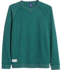 men's johnnie-o pamlico crewneck sweatshirt, size medium - green