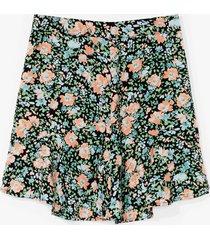 womens call me phoebe bouquet floral mini skirt - black