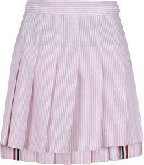 mini dropped back pleated skirt