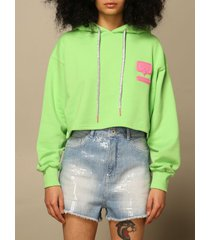 chiara ferragni sweatshirt chiara ferragni hoodie with rubber logo
