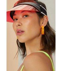 brinco amaro argola neon laranja neon - laranja - feminino - dafiti
