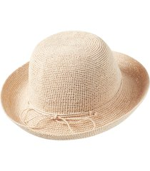 women's helen kaminski classic upturn crocheted raffia hat -