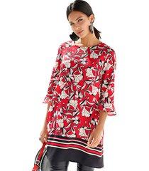 blouse amy vermont zwart::rood