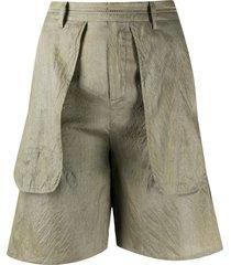 phaedo studios pouch pocket tailored shorts - green