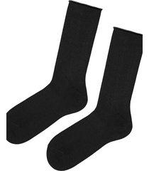 calzedonia short cuffed cotton socks, no elastic man black size tu