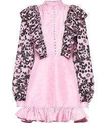 leonora by nbs kort klänning rosa custommade
