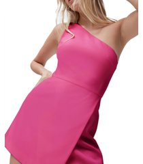 french connection whisper one-shoulder envelope dress