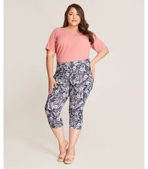 pantalon mujer capri estampado