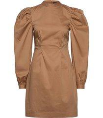 aspen dress knälång klänning brun gina tricot