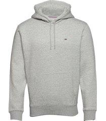 tjm regular fleece hoodie hoodie trui grijs tommy jeans