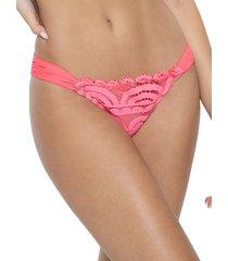 pq women's lace bikini bottom - pink crush - size m