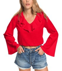 roxy juniors' paradise is you cotton crop top