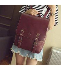 retro pu leather women bag leisure backpack shoulder bag simple fashion large ca