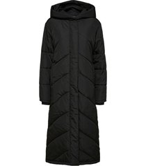 maxi lange gewatteerde jas