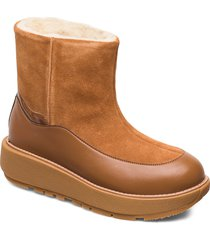 elin snuggle boot shoes boots ankle boots ankle boots flat heel brun fitflop