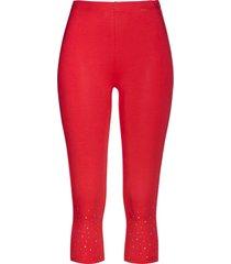 leggings capri con strass (rosso) - bpc selection