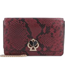 kate spade nicola printed leather wallet on chain