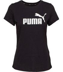 ess logo tee t-shirts & tops short-sleeved svart puma
