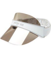 christian dior diorclub visor in white /smoke mirror at nordstrom