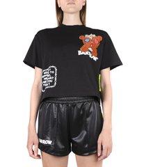 barrow black cotton t-shirt with teddy print