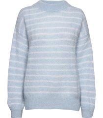 albert sweater awn gebreide trui blauw iben