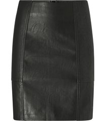 kjol onlsky faux leather skirt