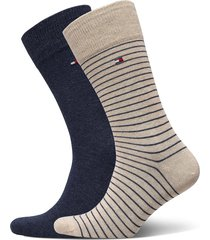 th men small stripe sock 2p underwear socks regular socks beige tommy hilfiger