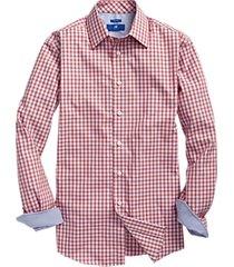 egara red & blue gingham check sport shirt