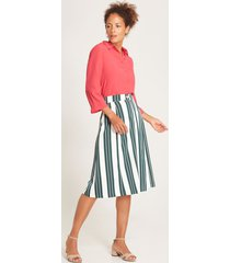 falda midi rayas verde 12