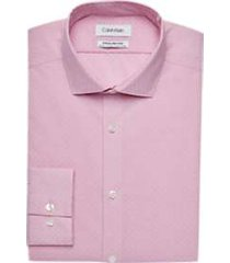 calvin klein infinite non-iron berry dot slim fit dress shirt