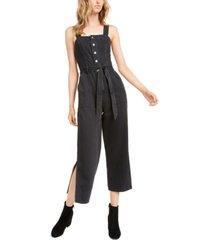 oat black volcano side-slit jumpsuit