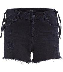 beschadigde jeans short isis  zwart