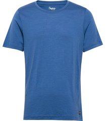 oslo wool tee t-shirts short-sleeved blå bergans