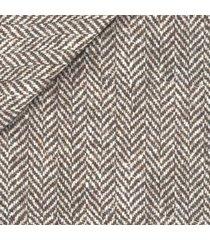 giacca da uomo su misura, bottoli, eco spigato marrone, autunno inverno   lanieri