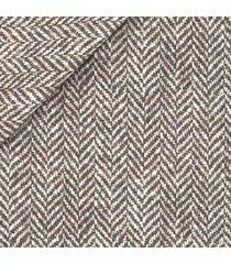 giacca da uomo su misura, bottoli, eco spigato marrone, autunno inverno