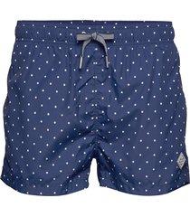 polka dot swim shorts lw short cut badshorts blå gant