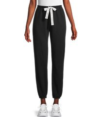 kendall + kylie women's logo cotton-blend jogger pants - black - size m
