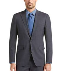 cole haan grand. os charcoal check coolmax lined slim fit suit