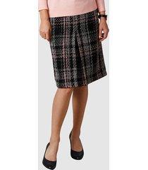 kjol mona svart::rosa