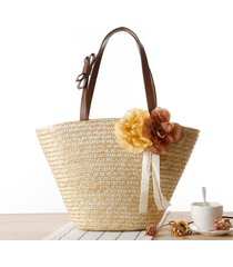 2017 fashion casual straw handbags new women style straw summer beach tote big s