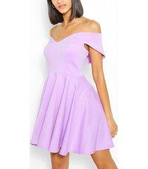 cape detail bandeau skater dress, lilac